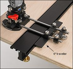 """Veritas® 6"""" Traveller for Plunge Base for Rotary Tools - Woodworking"""
