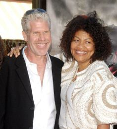 Ron Perlman & Opal Stone have been married for decades. Interracial Celebrity Couples, Interracial Family, Interracial Marriage, Black Woman White Man, Black And White Love, Mixed Couples, Black Couples, Husband And Wife Love, Famous Couples
