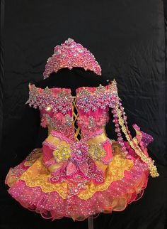 Pagent Dresses For Kids, Toddler Pageant Dresses, Glitz Pageant Dresses, Pageant Wear, Little Girl Dresses, Girls Dresses, Dance Costumes, Girly, Diy Stuff
