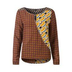 combi stoffen, leuke stijl blouse