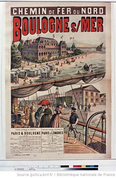 The size of this poster when fully assembled is 126 x cm x inches). Pub Vintage, Art Nouveau Poster, Trains, Tourism Poster, Ville France, Railway Posters, Old Advertisements, Advertising Poster, Vintage Travel Posters