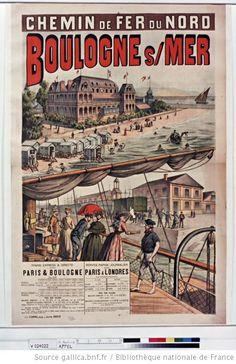 """Affiche """"Chemin de Fer du Nord"""" - Boulogne sur Mer"""