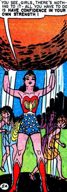 vintage Wonder Woman comic
