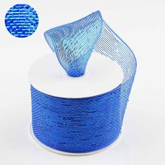 Celebrate your special event with efavormart's high quality Decorative Mesh Ribbon Decorations. Purchase our Sparkly Mesh Ribbons in lovely colors and sizes. Royal Blue Wedding Decorations, Ribbon Decorations, Wedding Crafts, Diy Wedding, Blue Tablecloth, Deco Mesh Ribbon, Pew Bows, Chair Covers, Mesh Fabric