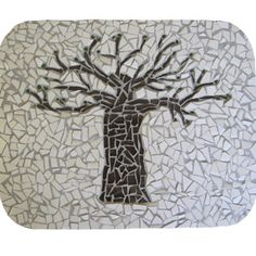 complete mosaic baobab tree - imagine the floor done in this mosaic! Lots of repeat pattern. Mosaic Crafts, Mosaic Projects, Craft Projects, Mosaic Ideas, Craft Ideas, Pebble Mosaic, Mosaic Glass, Stained Glass, Guitar Patterns