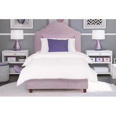 Annie Twin Upholstered Platform Bed