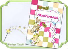 Mutterpass Hülle,Scrap Style pastell von Jasuki auf DaWanda.com