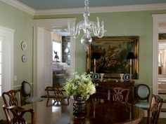 Olive Green Everything  English Interior Farrow Ball And Green Amazing Green Dining Room Walls Decorating Inspiration