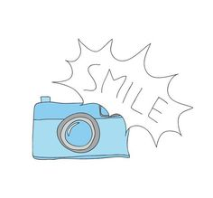 Imagen de blue, camera, and smile