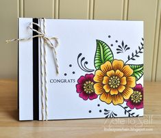 Hennah Elements, Altenew, copics, Note To Self Diwali Cards, Altenew Cards, Craftwork Cards, Hand Stamped Cards, Congratulations Card, Pretty Cards, Copics, Watercolor Cards, Creative Cards