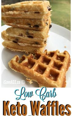 Low Carb and Keto Fluffy Waffles Recipe - iSaveA2Z.com