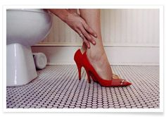 Louis Vuitton Red Shoe Blues als Premium Poster | JUNIQE