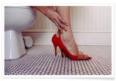 Louis Vuitton Red Shoe Blues als Premium Poster von Aysha Banos | JUNIQE