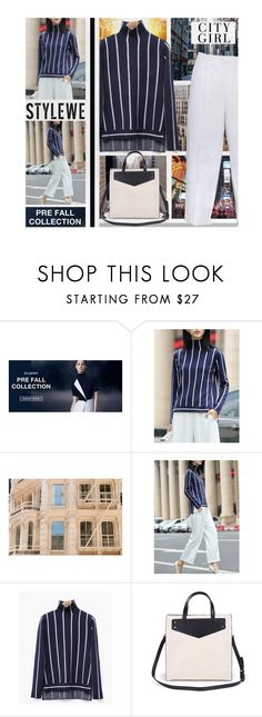 """""""City girl (StyleWe)"""" by hangar-knjiga ❤ liked on Polyvore featuring Paul Frank, Sweater, bag, pants and stylewe"""