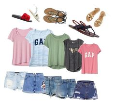 """""""Summer basic"""" by look-by-alina on Polyvore featuring мода, Gap, GRLFRND, Alexander Wang, Paul & Joe Sister, Frame, Chanel, Roberto Cavalli, Ancient Greek Sandals и Givenchy"""