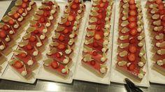 Vanilla sponge/ strawberry mousse/ straw jelly