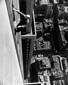 Window Washer Empire State Building 1948 x