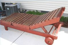 How To Build A Wood Chaise Lounger