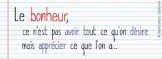 Le bonheur Math Equations, Quotes, Bonheur, Qoutes, Dating, Quotations, Shut Up Quotes, Quote