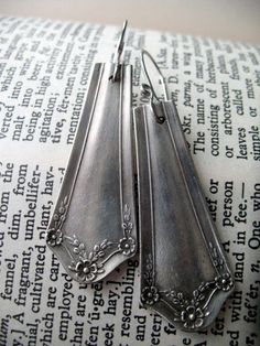#upcycled #silverware #earrings <3