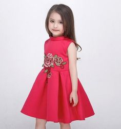 Girl's Fashion Flower Embroidery Party Dress Starts from $34.99