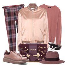 """Velvet Rose"" by tdwsammy ❤ liked on Polyvore featuring Vivienne Westwood Man, Zara, Yves Saint Laurent, Prada, Maison Michel, Alexander McQueen, men's fashion and menswear"