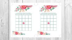 || DIGITAL PRINTABLE || INSTANT DOWNLOAD ||  W A T E R C O L O U R F L O R A L B A B Y S H O W E R White Floral Design {see other listings for chalkboard designs}  - 5 x 7 Sized Baby Shower Bingo - 2x 5x7 Game Boards per A4 Sheet - delivered in JPEG & PDF files - Blank Squares for DIY Bingo - 300dpi Printable - Print It Yourself - Modern & clean invitation - Cut along the crop marks provided - Instant Download, available once purchased  *JPEG - Home & Photo Print *PDF - Profession...