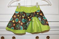 Crafts, Sewing, Patterns: pook-a-boo green/brown floral