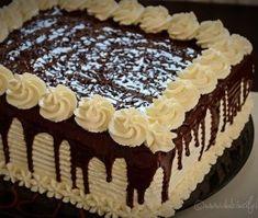 tort-cu-2-feluri-de-ciocolata-1 Buttercream Cake Designs, Cake Decorating Frosting, Easy Cake Decorating, Birthday Cake Decorating, Cake Icing, Cake Decorating Techniques, Chocolate Cake Designs, Cake Recipes, Dessert Recipes