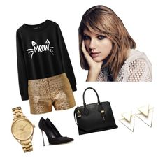 """""""Taylor Swift"""" by emmatraynor on Polyvore featuring Lanvin, Casadei, Michael Kors and Lacoste"""