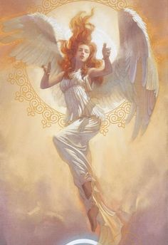 Angel by Tsuyoshi Nagano Angels Among Us, Angels And Demons, I Believe In Angels, Ange Demon, Guardian Angels, Mythical Creatures, Character Art, Fantasy Art, Concept Art