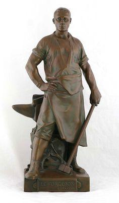 Egide ROMBAUX (1865-1942),  Le Forgeron