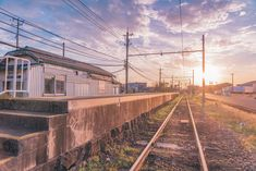 Real Background, Aesthetic Revolution, Japan Train, Anime Places, Japanese Landscape, Anime Life, Train Station, Animal Crossing, Railroad Tracks