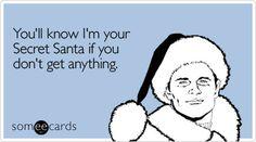 Why secret Santa? why? :(