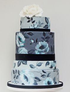 Beautiful!Handpainted Wedding Cake. For Wedding Accessories,visit us. http://www.bridesadvantage.com