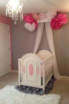 My Little Girl's Gray & Pink Nursery