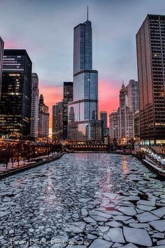 Chiberia River in Chicago; art, art, pizza, and more art!