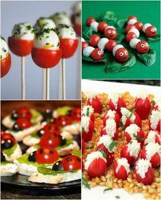 idées repas santé amusant pour enfant avec mozzarella et tomates                                                                                                                                                      Plus