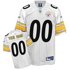 f474b6361 Steelers Personalized Authentic White NFL Jersey (S-3XL) Pittsburgh Steelers  Jerseys
