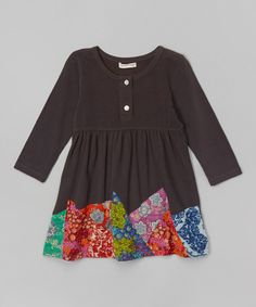 Look at this Gray Patchwork Dress - Toddler