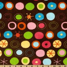 Kaufman Minky Cuddle Circle O Le Brown - Discount Designer Fabric - Fabric.com