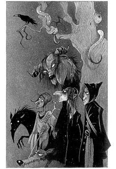 Galería de ilustraciones: Hallowen. Pip y la maldición de la bruja del bosque (Chris Mould)