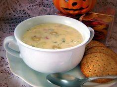 Cheesy ham and potatoes soup