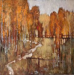Love these birches by the very talented Belarussian painter Alexander Zavarin - Pintores rusos - Trianarts Rodriguez - Picasa Web Albums