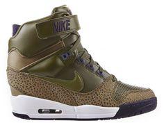 Officiel Nike Air Revolution Sky Hi GS Chaussures Pour Femme Jaune Vert clair Pourpre 633521-335