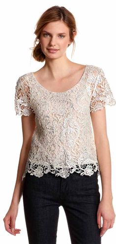 Greylin Womens Eve Lace Blouse