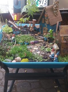 Source: fb share by Teresa Owen's, to Fairie gardens, crafts and fun(HP) Fb Share, Backyard Toys, Wheelbarrow, Fairy, Gardens, Fun, Crafts, Manualidades, Outdoor Gardens