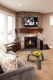 Resultado de imagen para corner fireplace with hearth