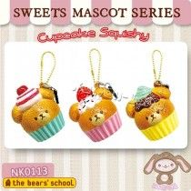 *PRE-ORDER* Licensed Bear's School Cupcake Squishy