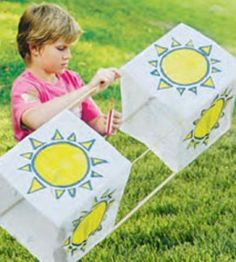 How to Make a Box Kite:  Making and flying this beautiful homemade box kite is a breeze with this simple craft project.  countrywomanmagazine.com